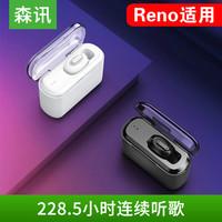 森讯 适用OPPO无线蓝牙耳机Reno/R15/R17/R11微小型R17pro隐形opporeno入耳塞findx手机通用篮牙运动原裝正品