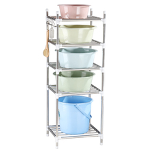 Toilet shelf, floor type 304 stainless steel multi-layer dormitory, bathroom tripod, basin storage shelf