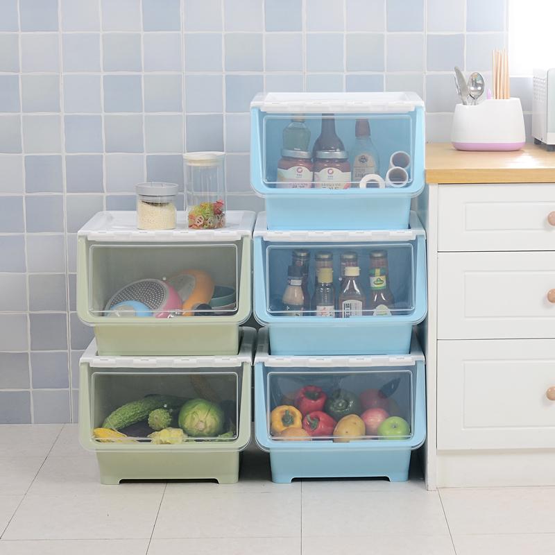 久梨沙大�塑料�N房�乳_式收�{箱收�{筐衣服�和�玩具零食整理箱