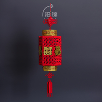 Pick-up 2019 New Years products decoration non-woven fabric palace lights three-dimensional blessing gold-encrusted spring Festival lantern Pendant