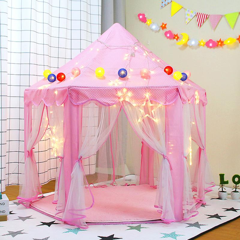 儿童帐篷室内公主六角玩具屋超大蚊帐过家家游戏房子女孩分床神器