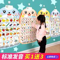 查看宝宝有声挂图婴儿童发声早教识字拼音字母表墙贴幼儿学习益智玩具价格