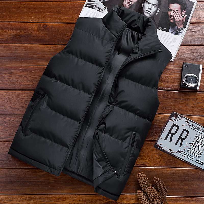 Autumn and winter vest men's down cotton cool trend Warm Large waistcoat