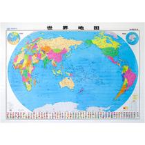 无折痕卷筒发货全新版世界地图1.5米1.1米地图挂图超大高清覆膜地图世界行政各国国旗中国地图出版社