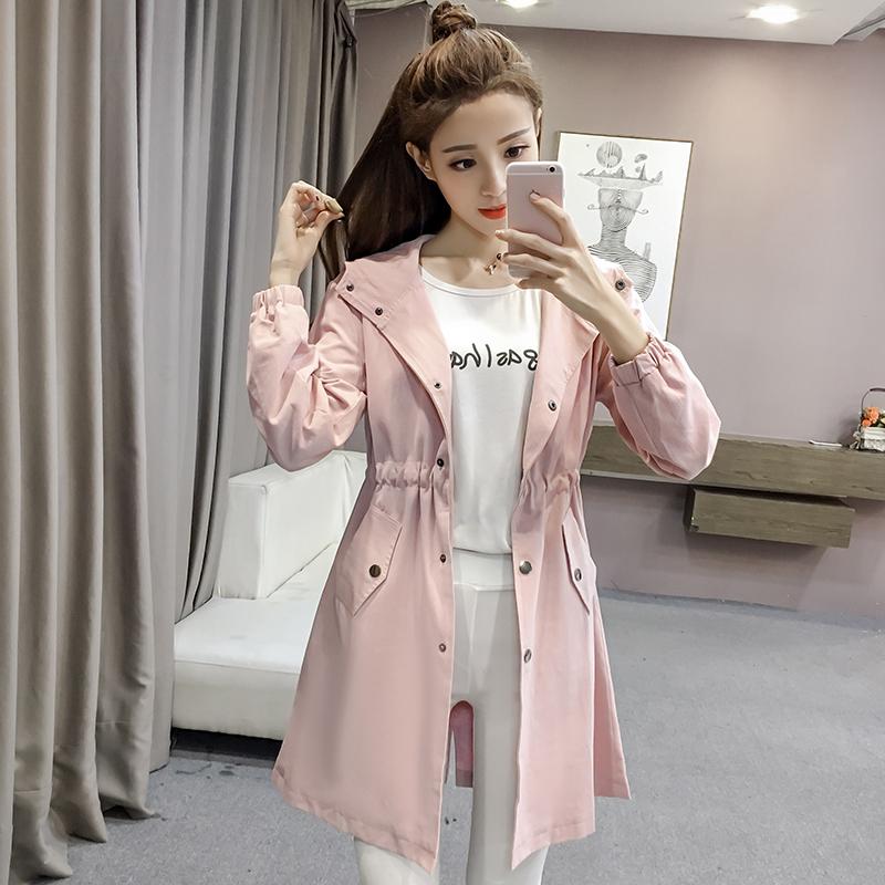 孕妇春装外套女2020新款韩版显瘦风衣开衫宽松孕妇外套春秋中长款图片