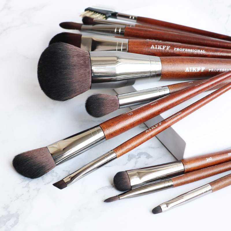 AIKFF oblique eyebrow brush, eyebrow brush, eyeliner brush, powder brush, concealer, eye shadow brush, 13 M makeup brushes.