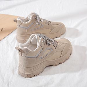 显脚小老爹鞋女2020年新款秋冬季百搭女鞋休闲运动板鞋ins潮鞋子