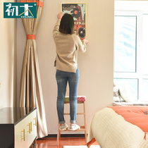 First wood foldable ladder stool kitchen High stool creative portable solid wood bench home adult Multifunctional chair