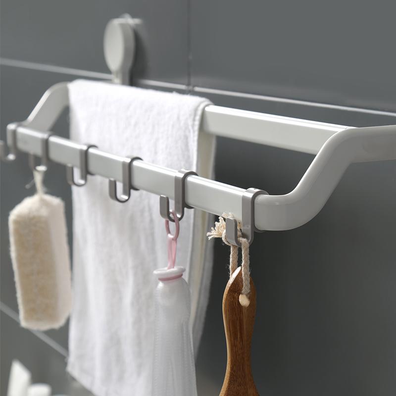 满98.00元可用64.1元优惠券卫生间毛巾架吸盘式凉挂钩置物架子