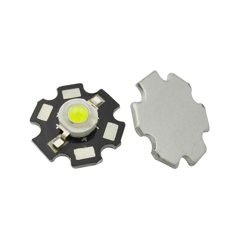 LED灯珠 1W 白光 大功率 带铝基板 LED灯 灯珠 发光二极管