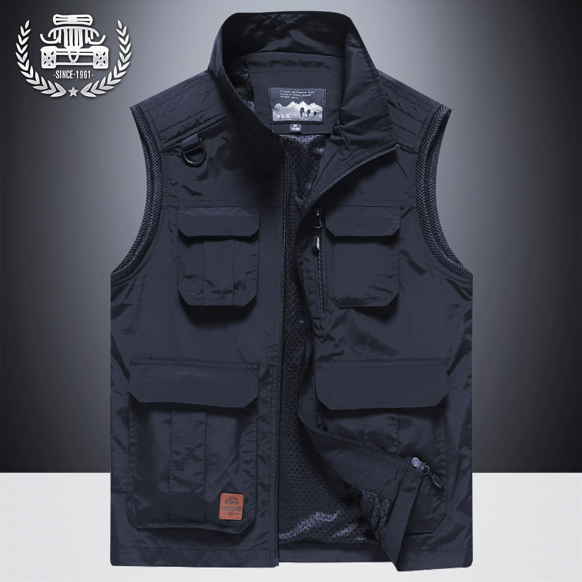 Majia men's spring and autumn 2020 new warm vest thickened fishing photography sleeveless Camisole tooling jacket man