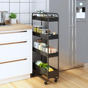 厨房夹缝收纳置物架20cm宽超窄落地多层窄缝可移动冰箱缝隙储物架