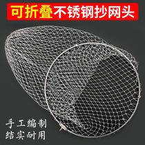 伸缩抄网竿杆捞鱼网3米2.1野营者碳素抄网超硬竞技钓鱼涂胶抄网头