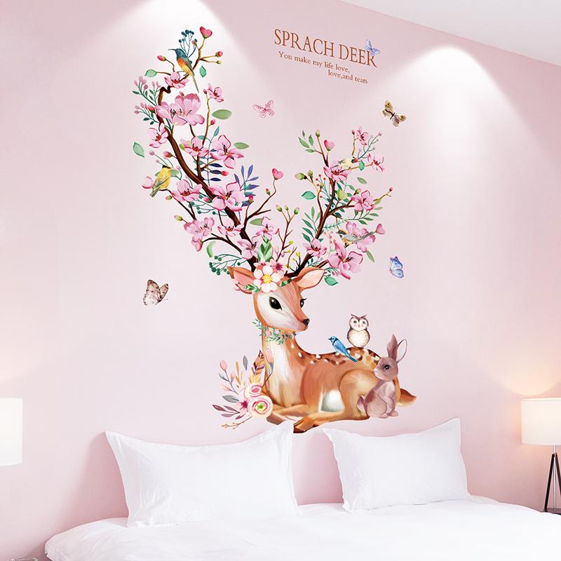 卡通儿童房墙壁卧室温馨装饰墙贴画