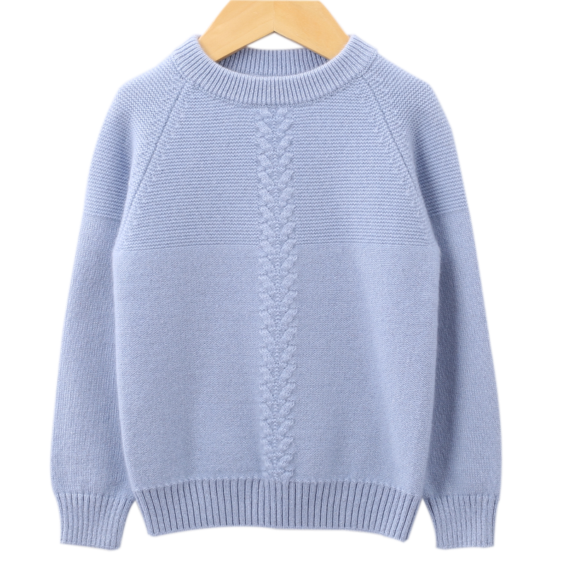 Childrens cashmere sweater girls sweater 2020 new style foreign style Pullover loose Korean autumn and winter thickened bottom knitted womens sweater