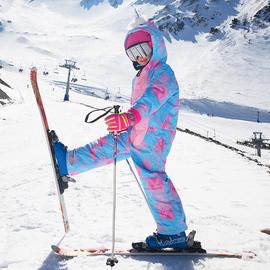 菲比小象冬儿童连体滑雪服男童女童户外加厚防水冲锋衣裤装备图片