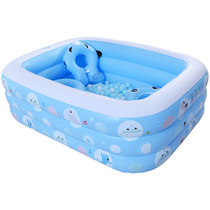 Baby fish baby inflatable swimming pool family Baby adult childrens play pool thickened household ocean ball pool