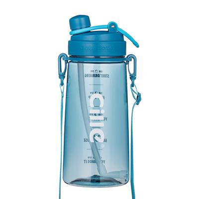 希乐tritan杯子超大容量吸管杯夏季运动健身水壶2000毫升大水杯