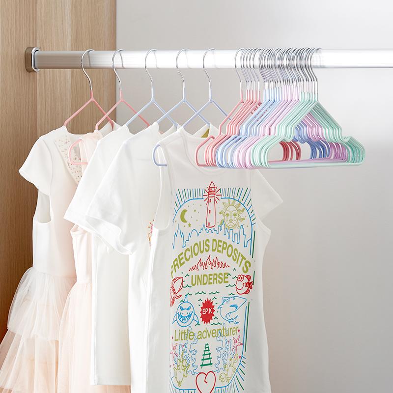 儿童衣架子小衣架婴幼儿家用小孩防滑家用晾挂衣服宝宝婴儿晒小号