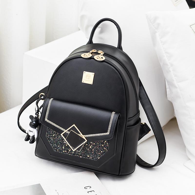 双肩包女2021新款时尚百搭韩版潮流休闲旅行包背包书包女士小包包