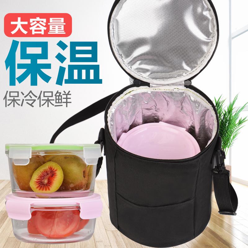 启笛 饭盒包小学生 保温保冷便当袋装饭盒包手提包保温袋焖烧壶套