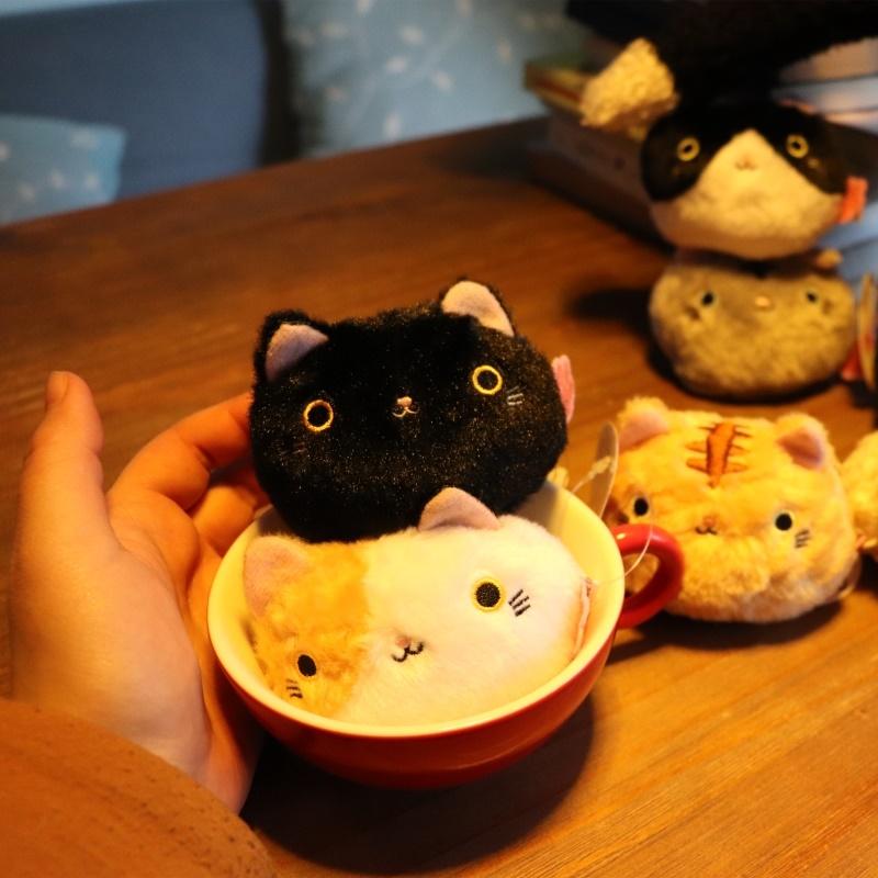 喵星人小猫咪毛绒玩具靴下猫团子手掌沙包手握公仔玩偶小号摆件