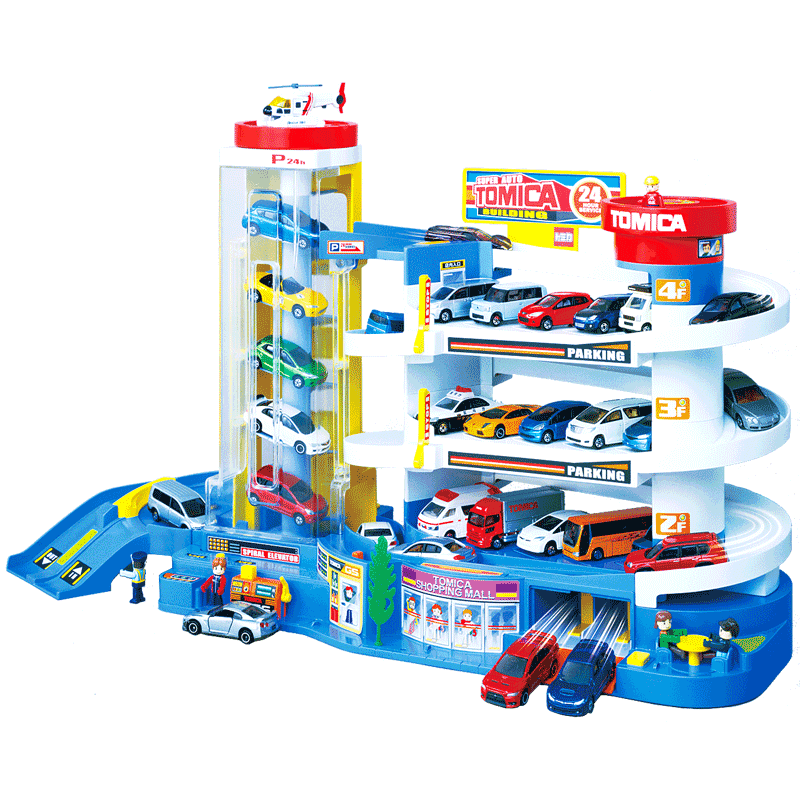 TOMY DOMEKA CAR BUILDING PACKAGE PACKAGE, ALLOY RACE RACE RACK TRACK, ELECTRIC CHILDREN'S GIFT TOY
