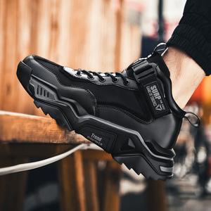 马丁靴男高帮百搭2020新款冬季潮流男靴ins靴子英伦风男士工装鞋