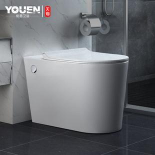 佑恩卫浴马桶无水箱小户型节水坐便器家用卫生间超漩式电动座便器图片