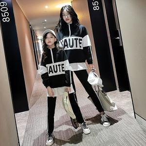 女童运动套装秋季母女装2019新款亲子装女大童韩版洋气时髦两件套