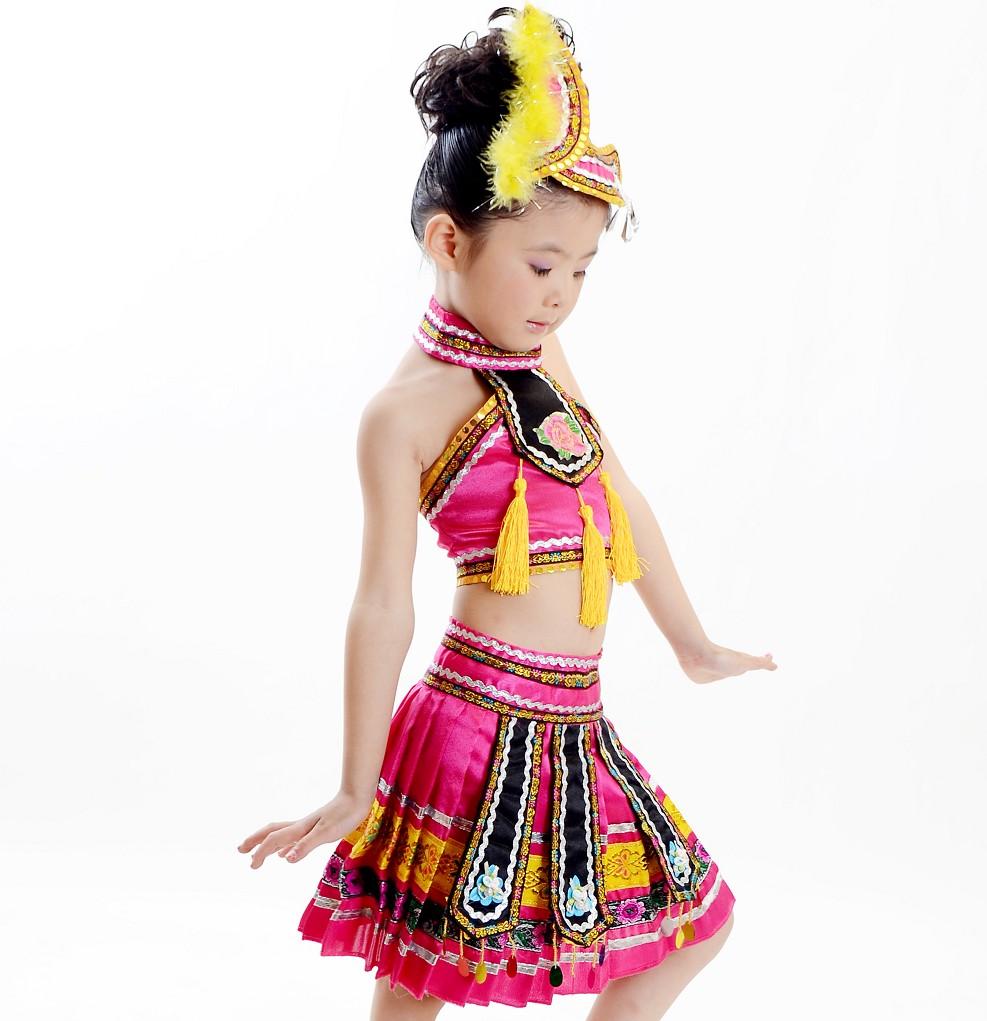 兒童民族幼兒女童舞蹈服裝
