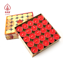 Free Garden Butter Lamp Candles 4 hours/8 hours Red and Yellow Butter Candles 100 pieces for Buddhist Lamps and Gifts