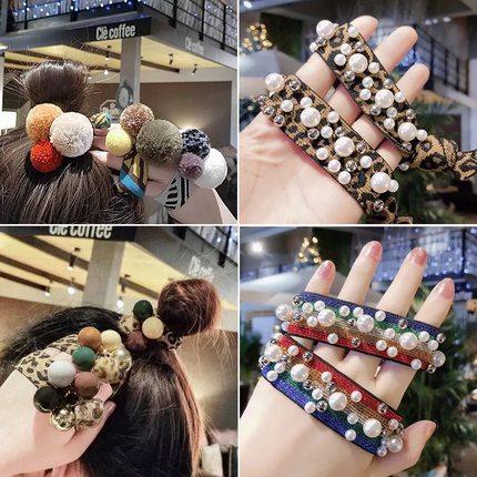 网红豹纹发圈女韩国皮筋头绳手链两用女橡皮筋扎头发简约发绳饰品
