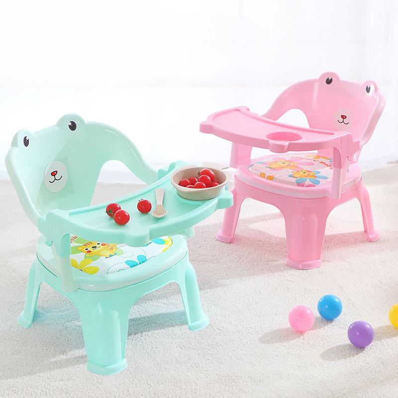 儿童餐椅叫叫椅带餐盘宝宝吃饭桌儿童椅子餐桌靠背宝宝小凳子塑料