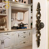门把手柜门欧式柜子抽屉单孔橱柜北欧美式隐形仿古复古衣柜小拉手