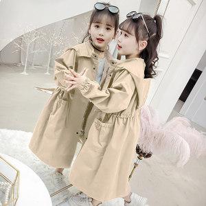女童2020年新款春秋季13韩版风衣