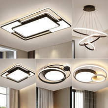 Living room light concise modern atmospheric led ceiling lighting 2019 new suite combination whole room light set meal