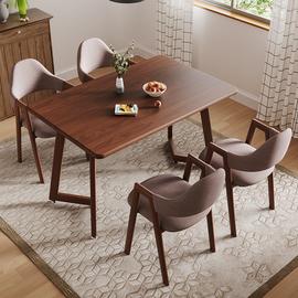 餐桌现代简约北欧4人6餐桌椅组合家用小户型吃饭桌子餐厅一桌四椅