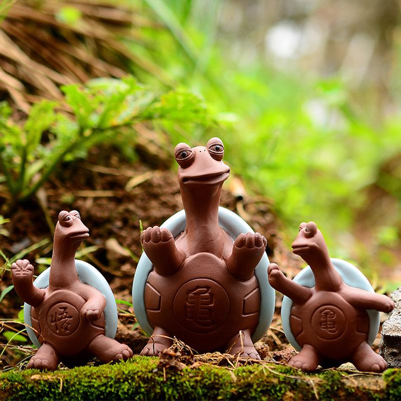 紫砂茶寵 小和尚貔貅招財金蟾 茶具 小擺件噴水茶玩