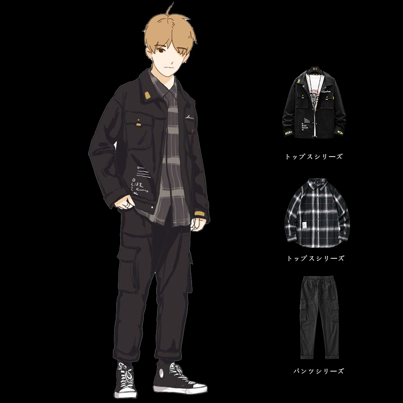 秋季外套男生工装套装韩版潮流学生男装一套搭配帅气衣服秋装夹克