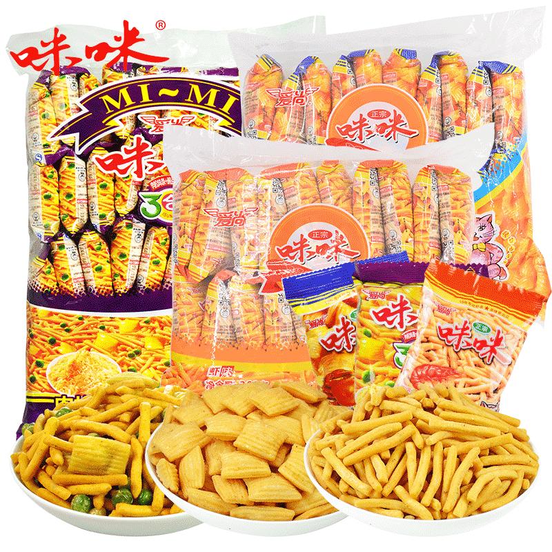 【咪咪-咪咪大禮包1360g】咪咪蝦條零食店小吃特產膨化食品鍋巴
