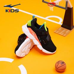 鸿星尔克童鞋2021春秋新款儿童运动鞋男童一脚蹬中大童时尚跑步鞋