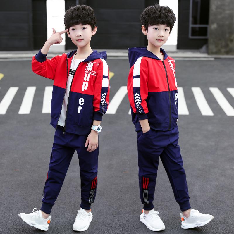 童装男童套装秋款2019新款运动男孩两件套中大童休闲春季衣服时髦10-15新券