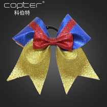 Student cheerleader with bow headdress aerobics multi-hair head flower Hair Belt Ribbon Cheerleading headgear 10 pcs