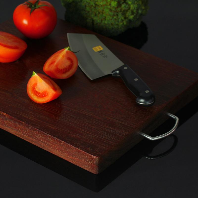 竹匠人家 铁木加厚菜板实木砧板整木刀板切菜板案板剁肉刀板粘板