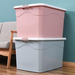 家用特大号塑料收纳箱带轮整理箱装玩具衣服收纳箱汽车车载收纳箱