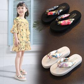 儿童拖鞋夏女童时尚外穿防滑新款夹脚人字拖亲子沙滩鞋公主凉拖鞋