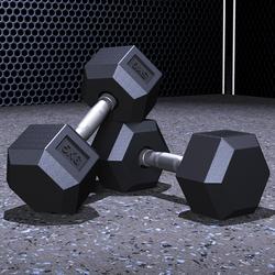 创思维专业健身包胶固定哑铃男士健身家用定值商用私教六角哑铃