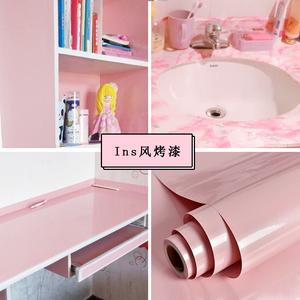 厨房墙纸防水防油自粘书桌子橱柜壁纸装饰冰箱膜家具翻新烤漆贴纸