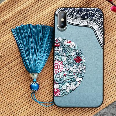 iphonex手机壳苹果x硅胶xr复古7plus中国风iphonexsmax超薄8p套女